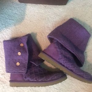 Purple fold down ugg boots
